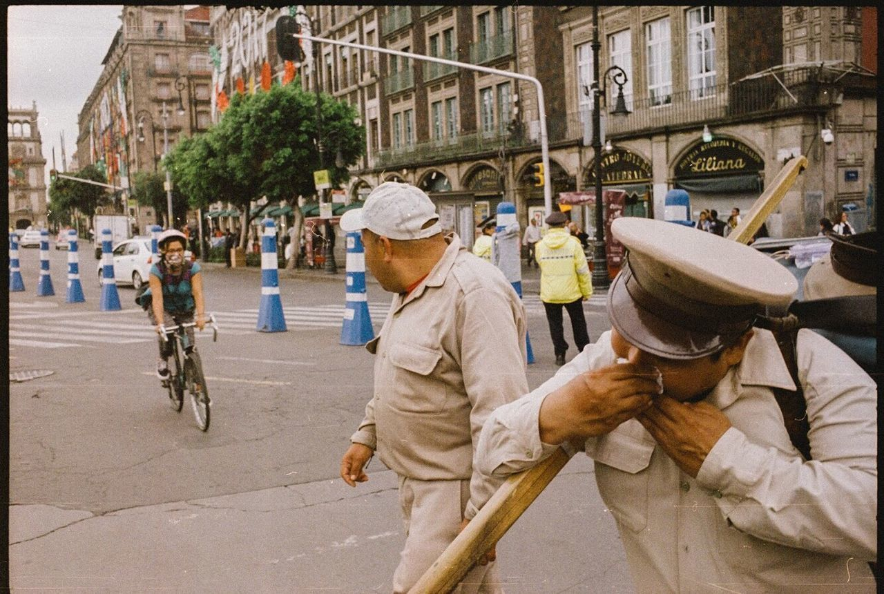 MAN WORKING ON CITY