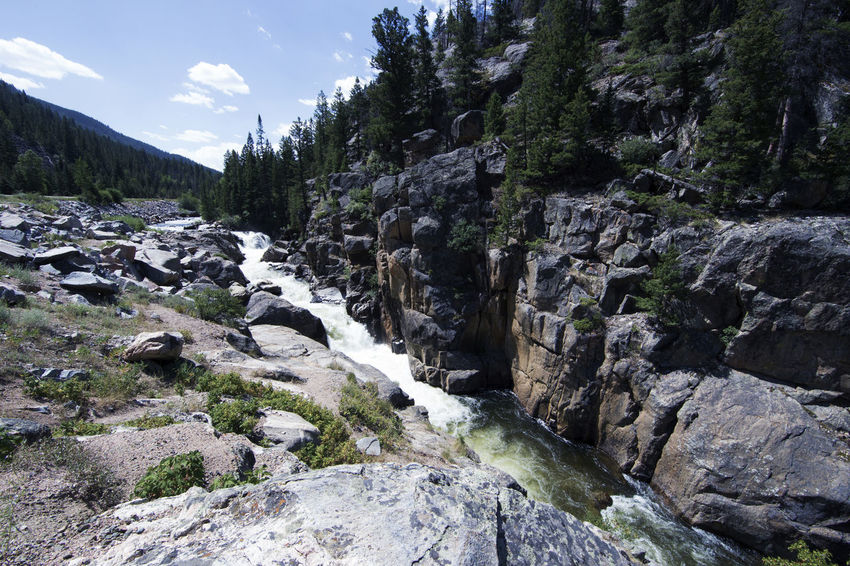 EyeEmNewHere Colorado Beauty In Nature Day Environment Flowing Flowing Water Land Landscape Mountain Nature No People Non-urban Scene Outdoors Plant Rock Rock - Object Scenics - Nature Sky Tranquility Tree Water Waterfall
