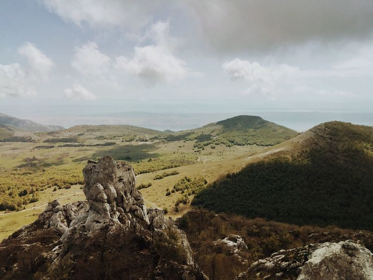 Ladscape and weather at Mid Velebit, Baske Ostarije, Croatia, May, 2017. Kiza Baske Ostarije Velebit Velebit Mountain Mountain Cloud - Sky Rock - Object Nature Landscape Tranquility Beauty In Nature Scenics Outdoors View Dabarski Kukovi Beautiful The Great Outdoors - 2017 EyeEm Awards