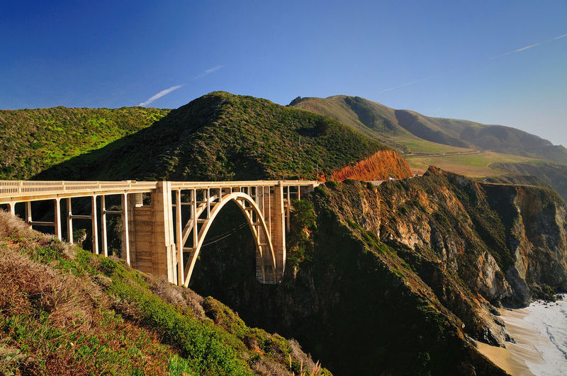 Highway 1 California California Coast Highway 1 Arch Architecture Beauty In Nature Bridge Bridge - Man Made Structure Built Structure Clear Sky Connection Day Mountain Nature No People Ocean Outdoors River Scenics Sky Tranquil Scene Tranquility Transportation Water California Dreamin