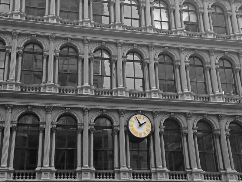 New York City New York Manhattan Architecture Built Structure Building Exterior Window No People Outdoors City Architectural Column Big Apple Clock Time Time To Reflect On The Road EyeEmNewHere EyeEm Best Shots EyeEm Gallery The Architect - 2017 EyeEm Awards