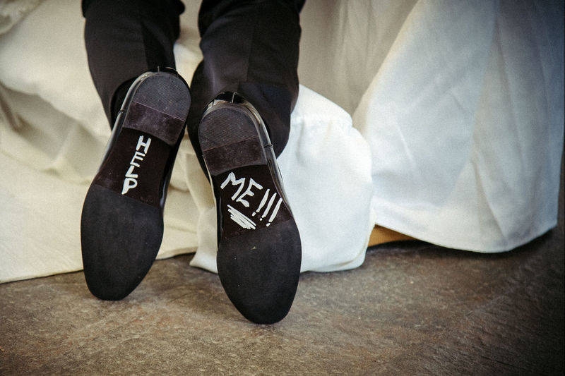 Body Part Casual Clothing Close-up Flooring High Angle View Human Body Part Human Foot Human Leg Indoors  Leisure Activity Lifestyles Low Section Men One Person Real People Relaxation Shoe Sock Standing Tiled Floor Unrecognizable Person