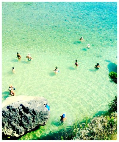 Salento Sea Green Paradise People Change Your Perspective View From Above People From Above Puglia Summer Azurblue