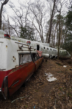 Abandon_seekers Abandoned Abandoned & Derelict Abandoned Places Abandoned_junkies Abandonedplaces Abandonment_issues Airplane Bare Tree Day Decay Decaying Ghostbusters Land Vehicle Mode Of Transport Nature No People Outdoors Public Transportation Sky Transportation Tree