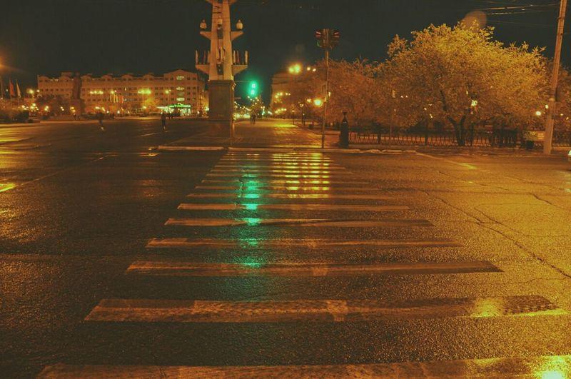 Sky City Night Nikon Nikond90 D90 Nature безфильтра эксперименты Чита вечер City Rain светофор площадь площадь_Ленина