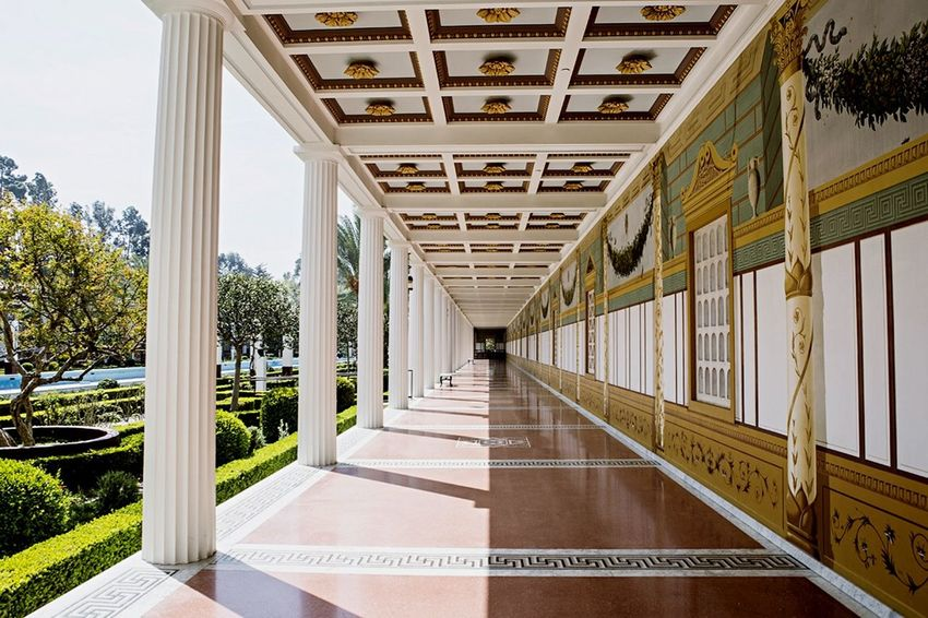 Symmetrical Architecture Deceptively Simple California The Getty Villa Lines Vanishing Point Open Edit The Architect - 2015 EyeEm Awards Bang On Target