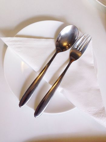Plate Dish Plate Of Food Spoon And Fork Spoon Fork Paper