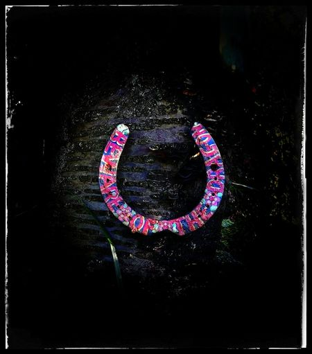 Lucky Horseshoes Beware Of The Dragon Horseshoe Colourful Horseshoe Love Close-up