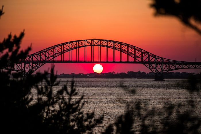 Sunset at Fire Island bridge( rover Moses causeway). Long Island New York Sunset Bridge - Man Made Structure Outdoors Silhouette Nature Water Travel Destinations Built Structure No People Sky
