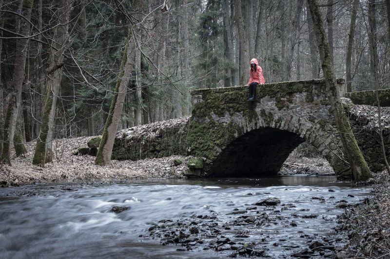 Waiting for Spring Nature Water Trees River Long Exposure Picoftheday Photooftheday Photography Bridge Girl Followme Czech Republic Forest Mood Winter Spring Time The Secret Spaces