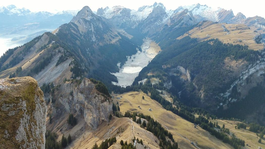 No People Nature Mountain Range Landscape Mountain Peak Beauty In Nature Preserve Nature Hoher Kasten Switzerland Sämtisersee Appenzell Premium Collection