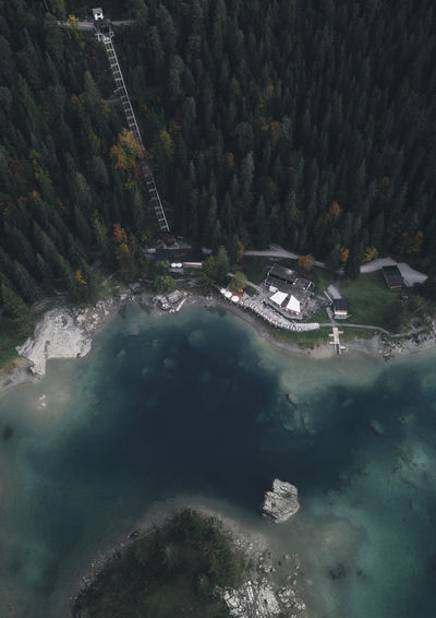 Aerial View Architecture Beauty In Nature Building Exterior Built Structure Caumasee City Day High Angle View Nature No People Outdoors Plant Scenics - Nature Tranquil Scene Tranquility Transportation Tree Water Waterfront
