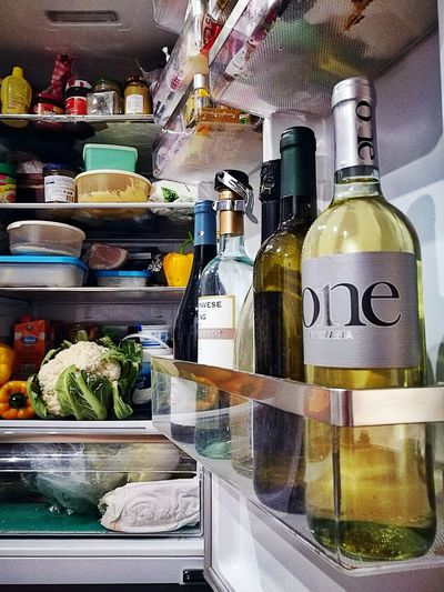 Wine Moments No People My Fridge Bottles Italian Wines Coming Back From Work Out No People Domestic Life Indoors  Drink Alcohol Variation