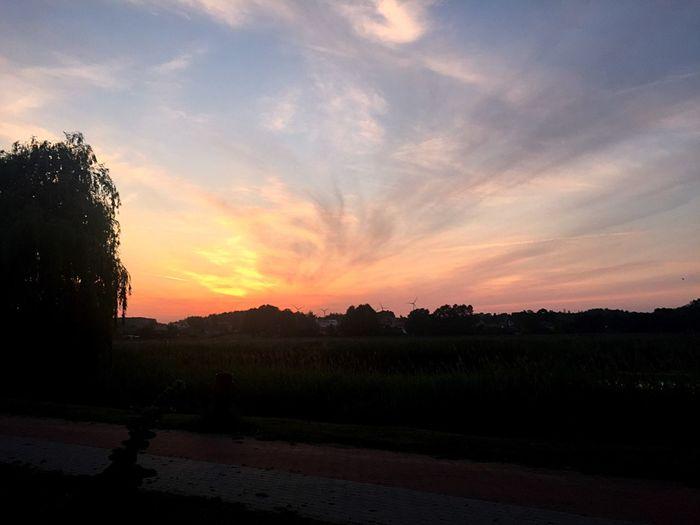 Sunset Clouds Lake Sky Orange Sky Sun Follow4follow Followme Like Like4like
