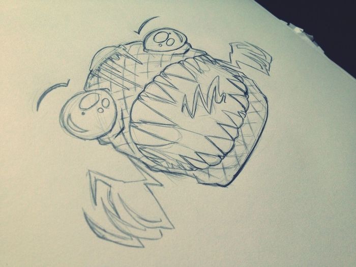 And my second commission piece (still can't believe someone wants to pay me :/)... The Waffle Monster.. Dig it. Drawing Creepy Commissionwork Sketch Cute Cartoon Wip Doodle Art Monster