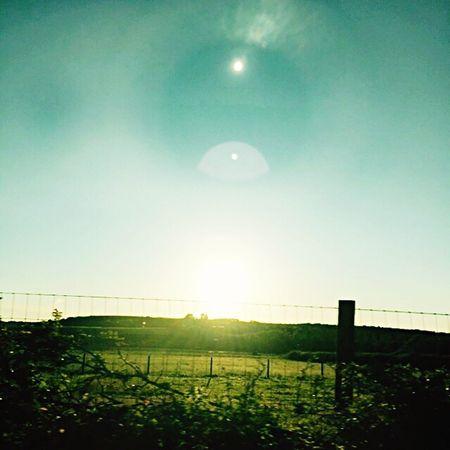 Isle Of Wight  Godshill Fields Evening Sun Eye Reflection Travelling