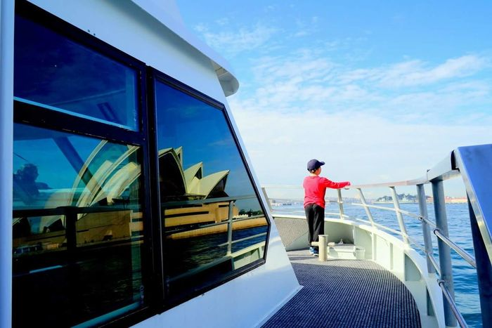 Feel The Journey Sea And Sky Harbour View Harbour Cruise Sydney, Australia Darling Harbour Operahouse Hope Kid Enjoying Life Enjoying The View