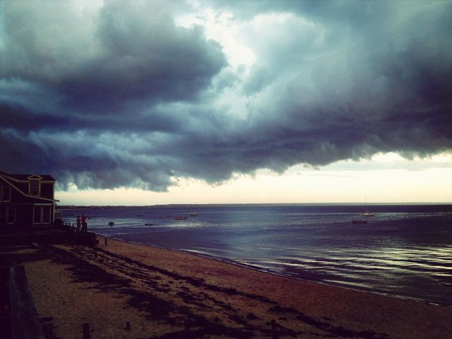 Storm coming into the cape. Skyporn #sunset #sun #clouds #skylovers #sky #nature #beautifulinnature #naturalbeauty #photography #landscape Clouds And Sky Provincetown