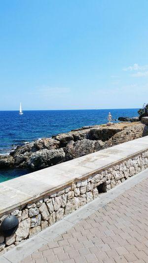 Meer Spanien Cala Ratjada 2015  Good Feeling Sun Blue Water Blue Sky