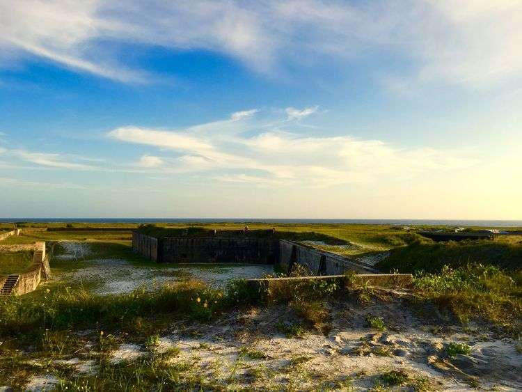 View from Fort Pickens Beauty In Nature Fort Pickens Fortpickens Gulf Coast Gulf Islands National Seashore Gulf Shores Landscape Pensacola Pensacola Beach Scenics Sky Tranquil Scene Tranquility