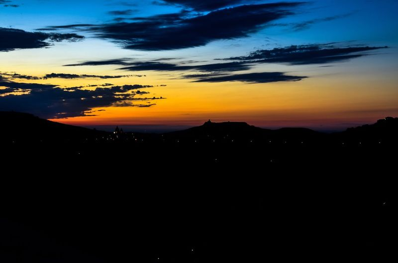 Lights will take you there. Lights, here and there, in Gozo, Malta. Night Lights Landscape Night Silhouette Gozo Sunset Evening Sky Dusk Lights Malta Hills Hilly Twinkling Lights Sky Clouds Tranquility