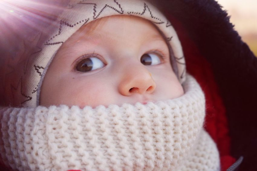 Knitted  Child Human Face Sweater Children Only Cold Temperature Headshot Childhood Warm Clothing Bokeh It Is Cold Outside Showcase December Autumn 2016 How's The Weather Today? December 2016 Love My Family Love My Nephew Alexander Little Boy Eyes Are Soul Reflection