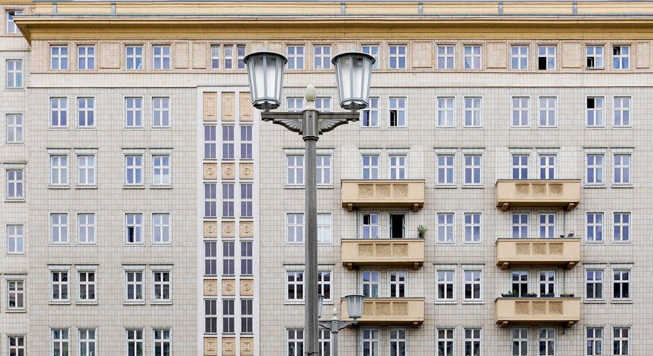 Lantern and facade at the frankfurter alee, berlin