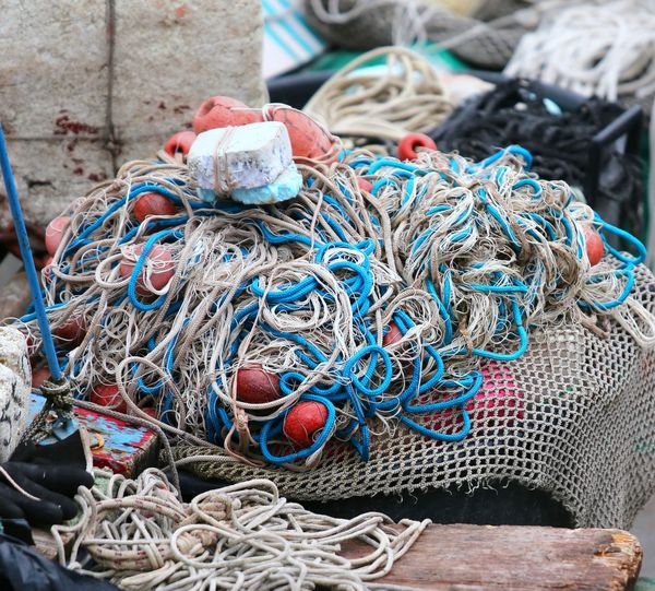 cluster of many fishing nets used by the fisherman Fishing Net Industry Naples Chioggia Equipment Fisherman Equipment Fishing Fishing Boat Fishing Industry Fishing Nets Many Net Nets Object