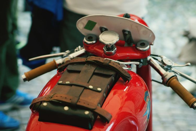 Close-Up Of A Cropped Motorbike