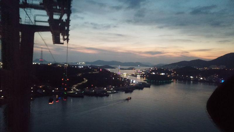 Sunset Seaside Night Lights Yeosu Cable Car