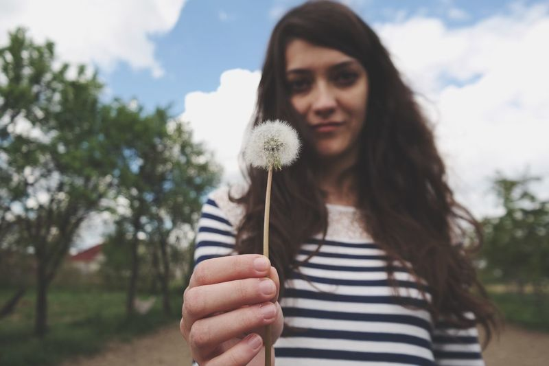 Learn & Shoot: Working To A Brief Dandelion Woman Girl Picturesque Lovely Taking Photos Enjoying Life Photography Photoshoot Sky Clouds And Sky Perspective Popular Photos Trees Nature Outdoors Sky And Clouds Beautiful Beauty Hanging Out Art View Landscape Amazing