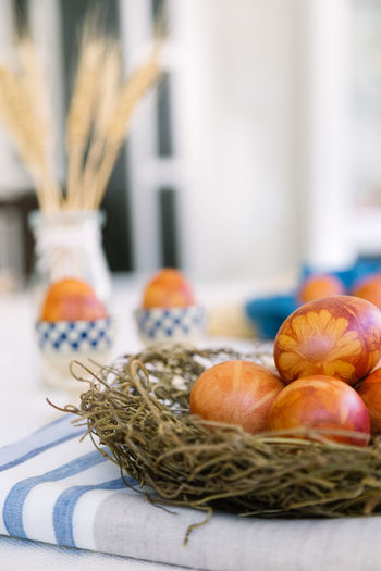 naturally dyed easter eggs Easter Basket Close-up Container Day Decoration Egg Eggs Focus On Foreground Food Food And Drink Freshness Healthy Eating Indoors  Natural Dyeing No People Plant Selective Focus Still Life Table Vegetable Wellbeing