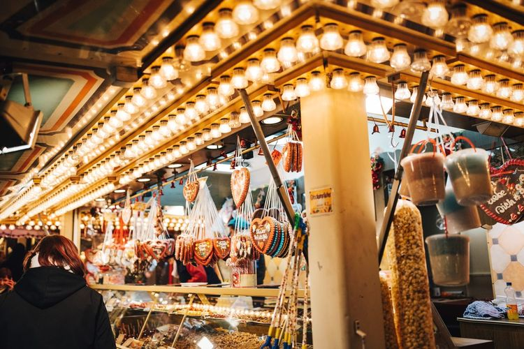That feeling ❤️ Germany Traditional Festival Business Full Frame Lifestyles Christmas Decoration Christmas Is Coming Christmas Around The World Merry Christmas Street Vendor Gingerbread Cookie Gingerbread Lebkuchen Warm Light Market Stall Berlin Photography Holiday Season Weihnachtsmarkt Weihnachtsstimmung Weihnachten Retail  Market Illuminated Large Group Of Objects Indoors  Store Men Real People Christmas Market Night