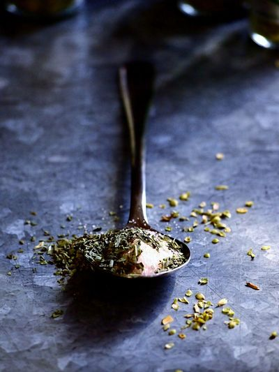 Seasoning Salt Blue Close-up Foodgasm Spices Spoon Light And Shadow Foodstyling Table My Point Of View Composition Focus On Foreground Minimalism Simplicity