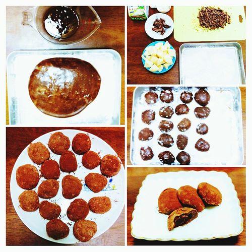 バレンタイン💓ショコラ餅 Food Table High Angle View Sweet Food Indoors  Day