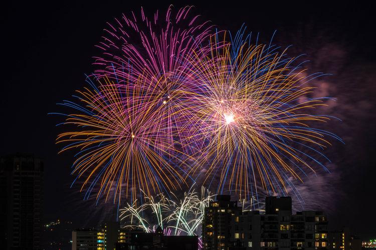 Honda Celebration of Light 2018 - South Korea Fireworks Building Competition Vancouver Canada British Columbia City Cityscape Illuminated Multi Colored Arts Culture And Entertainment Skyscraper Firework Display Celebration Firework - Man Made Object Motion