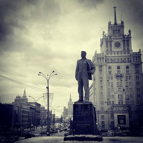 Architecture Moscow Monument Poet Mayakovskiy Cityscape Monochrome Black And White Walking Around