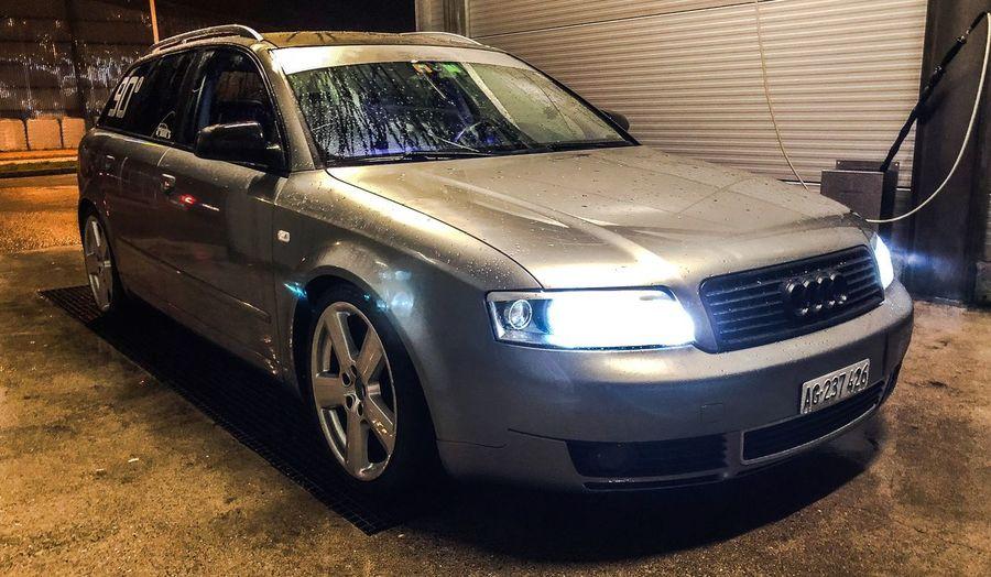Audi Wagon Carwash Night Love Audi Wagon Low Quattro Stationary Day