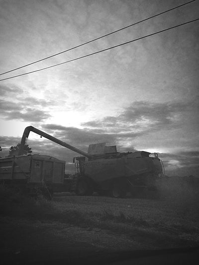 Tractor Farming Combines Working Harvest Black & White PhonePhotography IPhoneography Local Mobile Photography