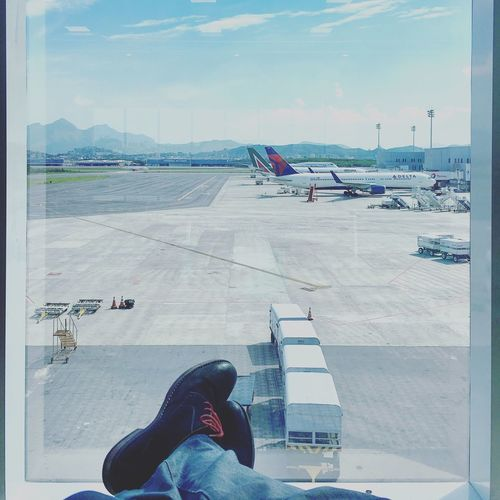 On my way Rio De Janeiro Rio De Janeiro Eyeem Fotos Collection⛵ Delta Airlines Alitalia Lufthansa Airport Travel Shoes Polishboy  Onmyway Ontheway IPhoneography Let's Go. Together.