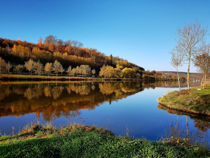 Reflection Water Sky Nature Scenics Outdoors No People Day Symmetry Beauty In Nature Moselle Valley Moselblick Mosel View Mosel