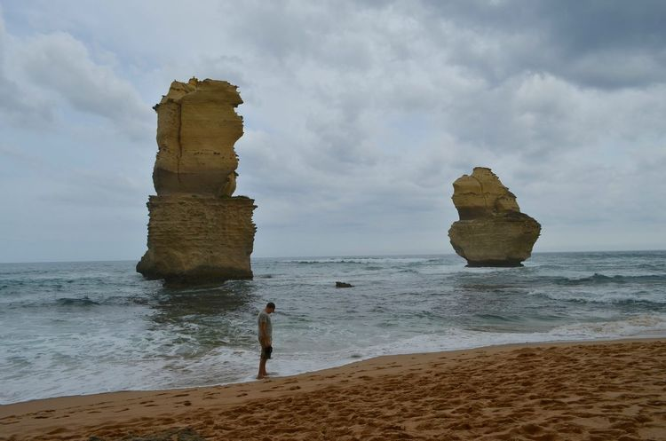 Me and cliffs. ЯПАвстралия Australia The Great Outdoors - 2015 EyeEm Awards Great Ocean Road Twelveapostles Travel The Traveler - 2015 EyeEm Awards Its Me Beach Travel Photography Be. Ready. Stack Rock Surfer Cliff Rock Formation