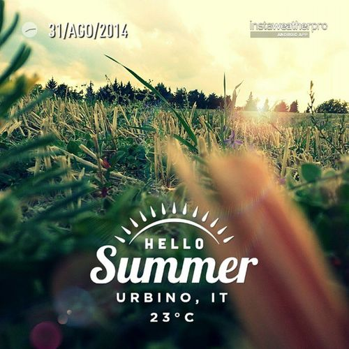 Instaweather Summer Aquilone Festa urbino sun italy weather love 2014