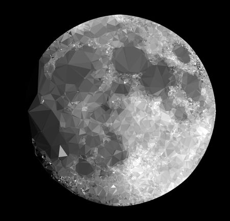 The Moon in Low Poly Style on Black Background Low Poly Moon Black Background Circle Close-up Crystal Cut Out Gemstone  Geometric Shape Illuminated Indoors  Jewelry Light Low Poly Art Low Poly Planet Low Poy Style Luxury No People Pattern Precious Gem Shape Shiny Single Object Still Life Studio Shot Wealth