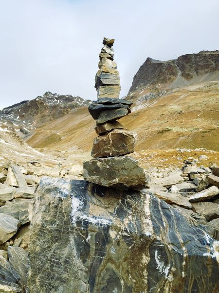 Natural Art  Stones Swiss Alps Mountains Autumn Colors