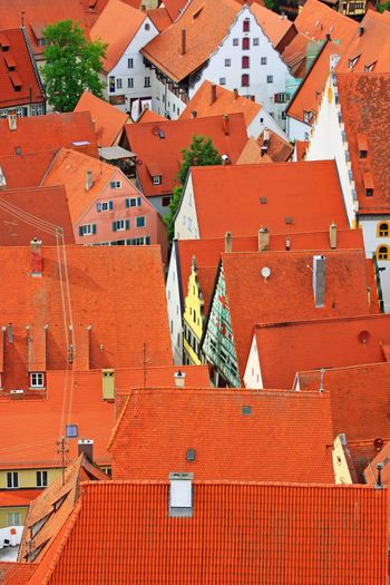 Red rooftops in