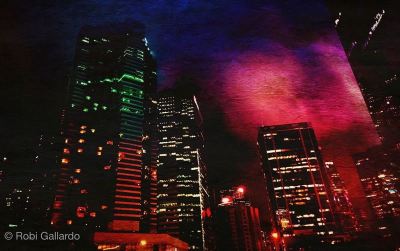 City nights Skyscraper Night Urban Skyline Cityscape Mextures DistressedFX IPhoneography Iphone6plus Mobilephotography NEM Painterly NEM Submissions NEM Mood AMPt_community Mobileartistry Theappwhisperer EyeEm Best Shots HongKong Eyeem_philippines Shootermag Hong Kong