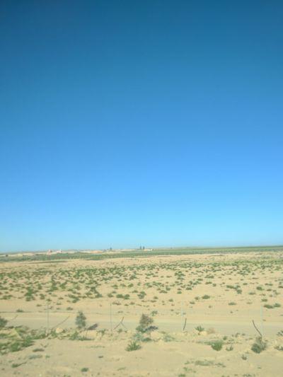 Sand Dune Clear Sky Desert Arid Climate Blue Sand Horizon Over Land Sunny Sky Landscape