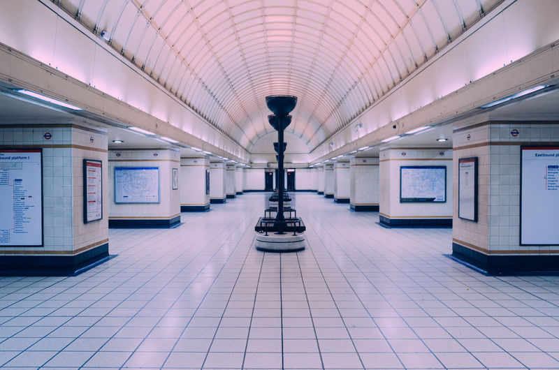 Empty gants hill tube station