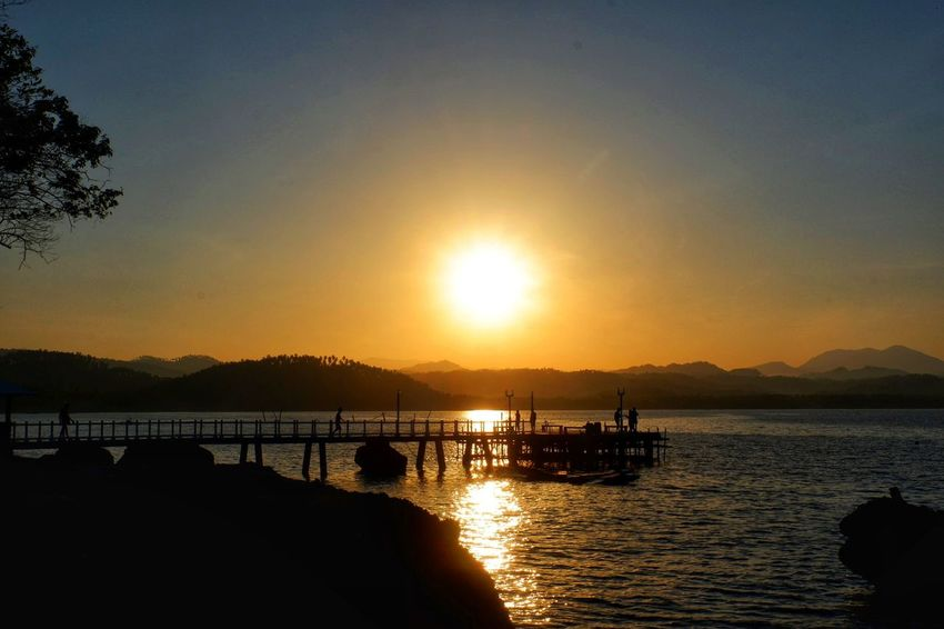 Rise SOCCSKSARGEN Sox Soccsksargen Experiece Philippines Sarangani Province Water Nautical Vessel Sea Sunset Mountain Silhouette Beach Sun Reflection Horizon Over Water Ocean Coast Seascape Wave